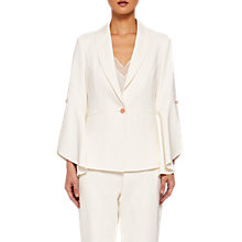 Buy Ted Baker Lalya Draped Bell Sleeve Blazer, Natural Online at johnlewis.com