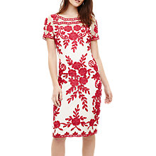 Buy Phase Eight Sienna Tapework Dress, Ivory/Fuschia Online at johnlewis.com