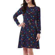 Buy Sugarhill Boutique Darcy Heart Print Dress, Navy Online at johnlewis.com