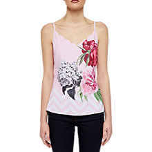 Buy Ted Baker Sarai Palace Gardens Scalloped Cami Top, Pale Pink Online at johnlewis.com