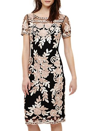Phase Eight Sienna Tapework Dress, White/Ivory