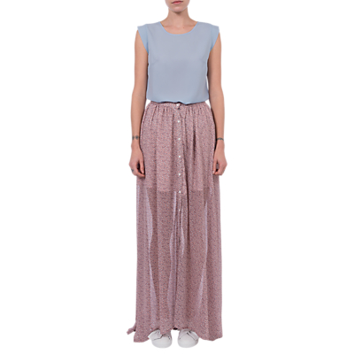 French Connection Elao Sheer Maxi Skirt, Teagown Multi