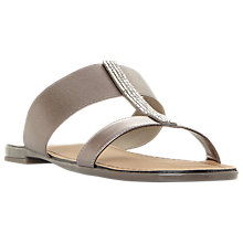 Buy Dune Lllora Open Toe Double Strap Sandals, Pewter Online at johnlewis.com