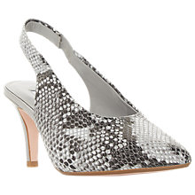 Buy Dune Cas Stiletto Heel Slingback Court Shoes, Grey/Multi Online at johnlewis.com