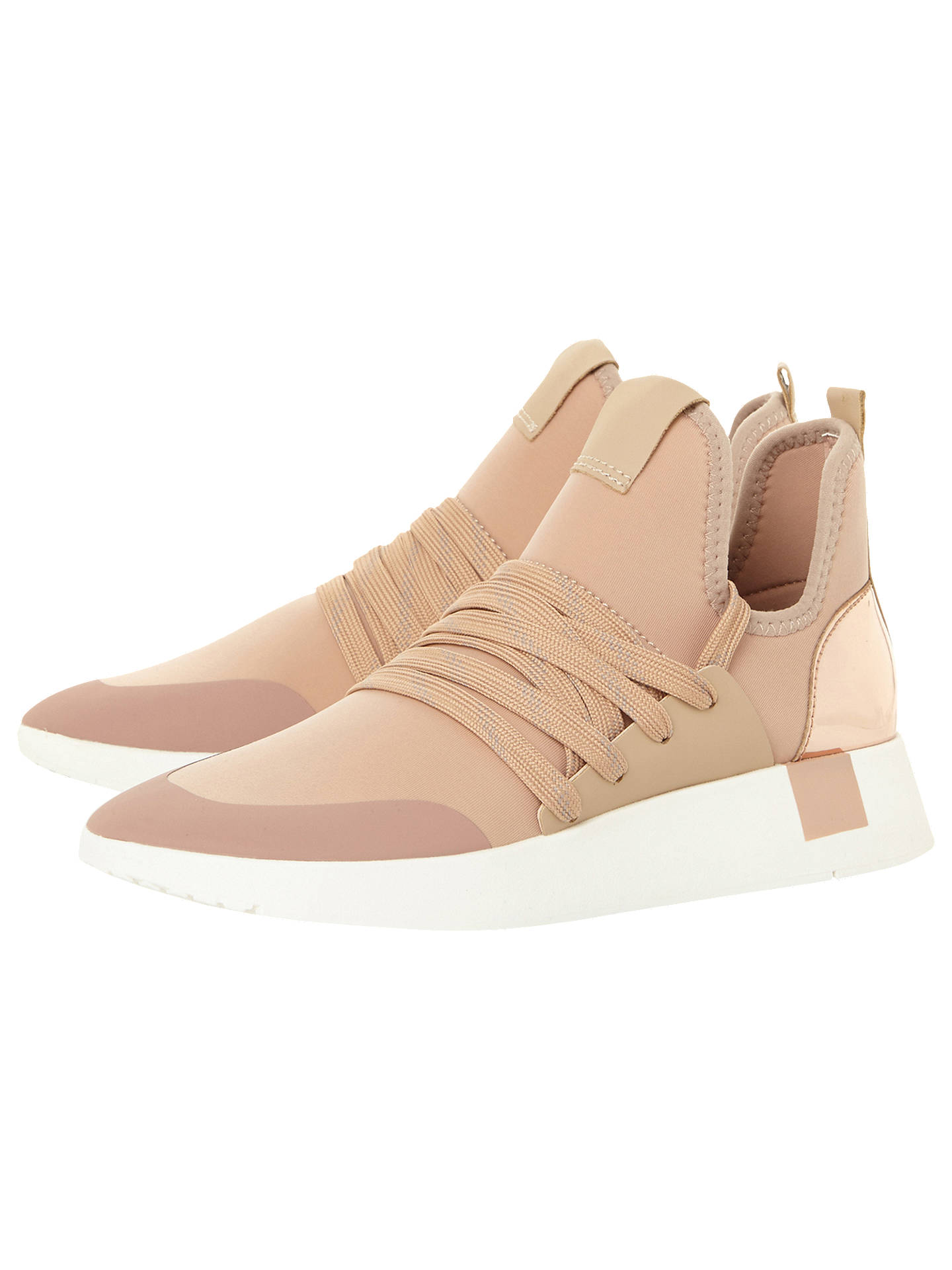 Buy Steve Madden Shady Trainers, Nude, 3 Online at johnlewis.com