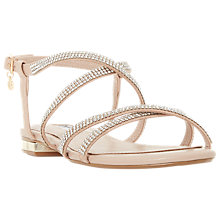 Buy Dune Neve Cross Strap Embellished Sandals Online at johnlewis.com