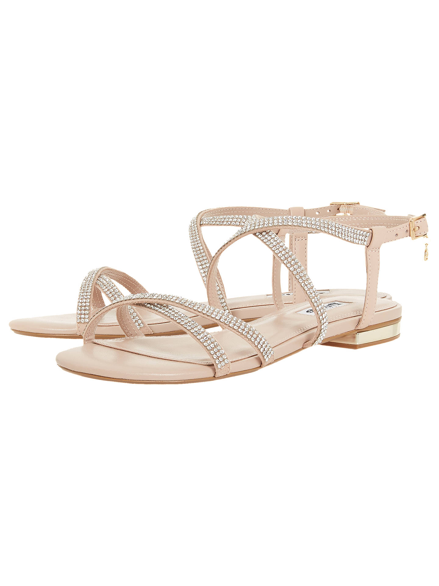a525cf8e5256 Dune Neve Cross Strap Embellished Sandals at John Lewis   Partners