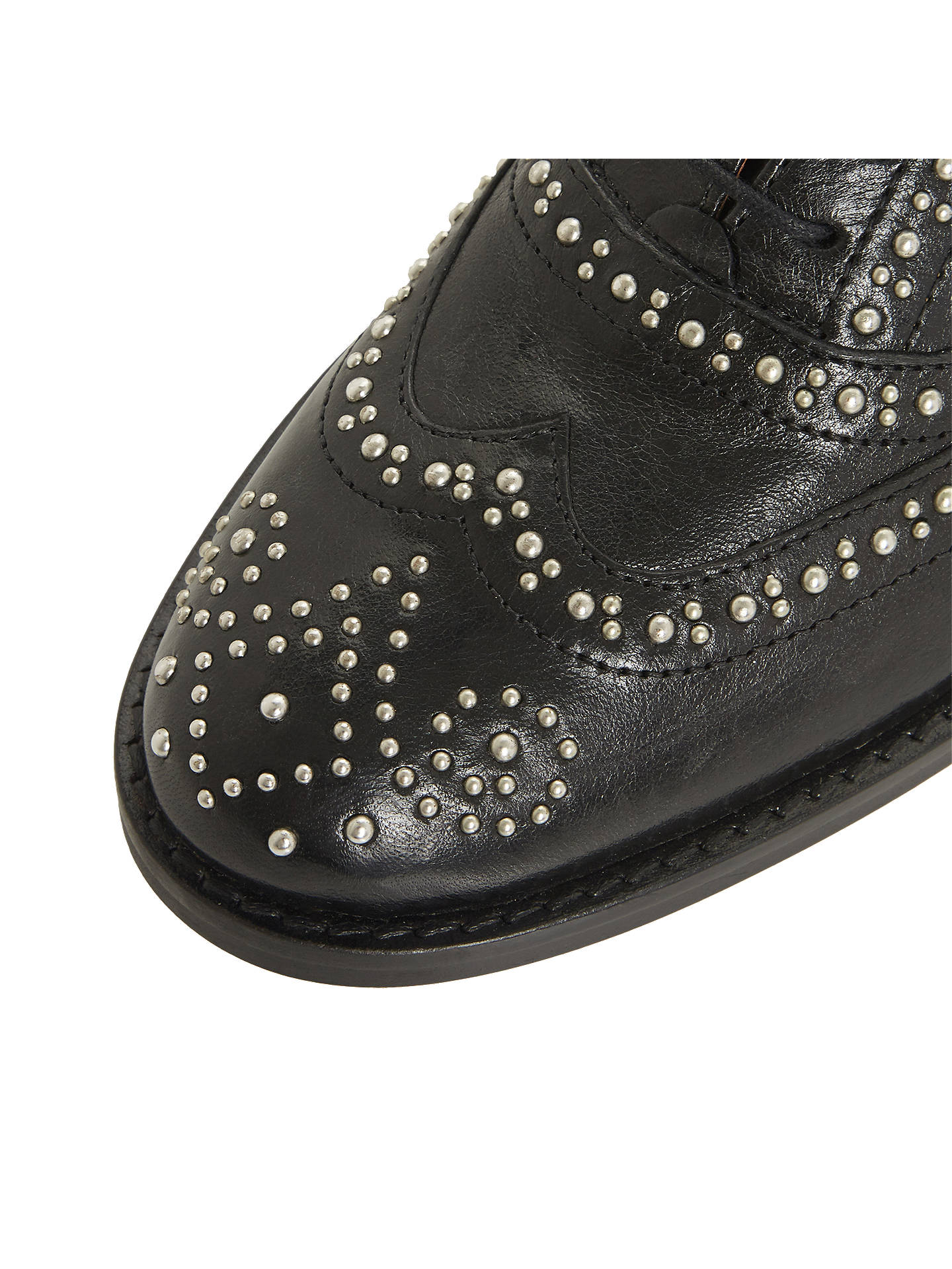 Buy Bertie Farryn Studded Lace Up Brogues, Black, 3 Online at johnlewis.com