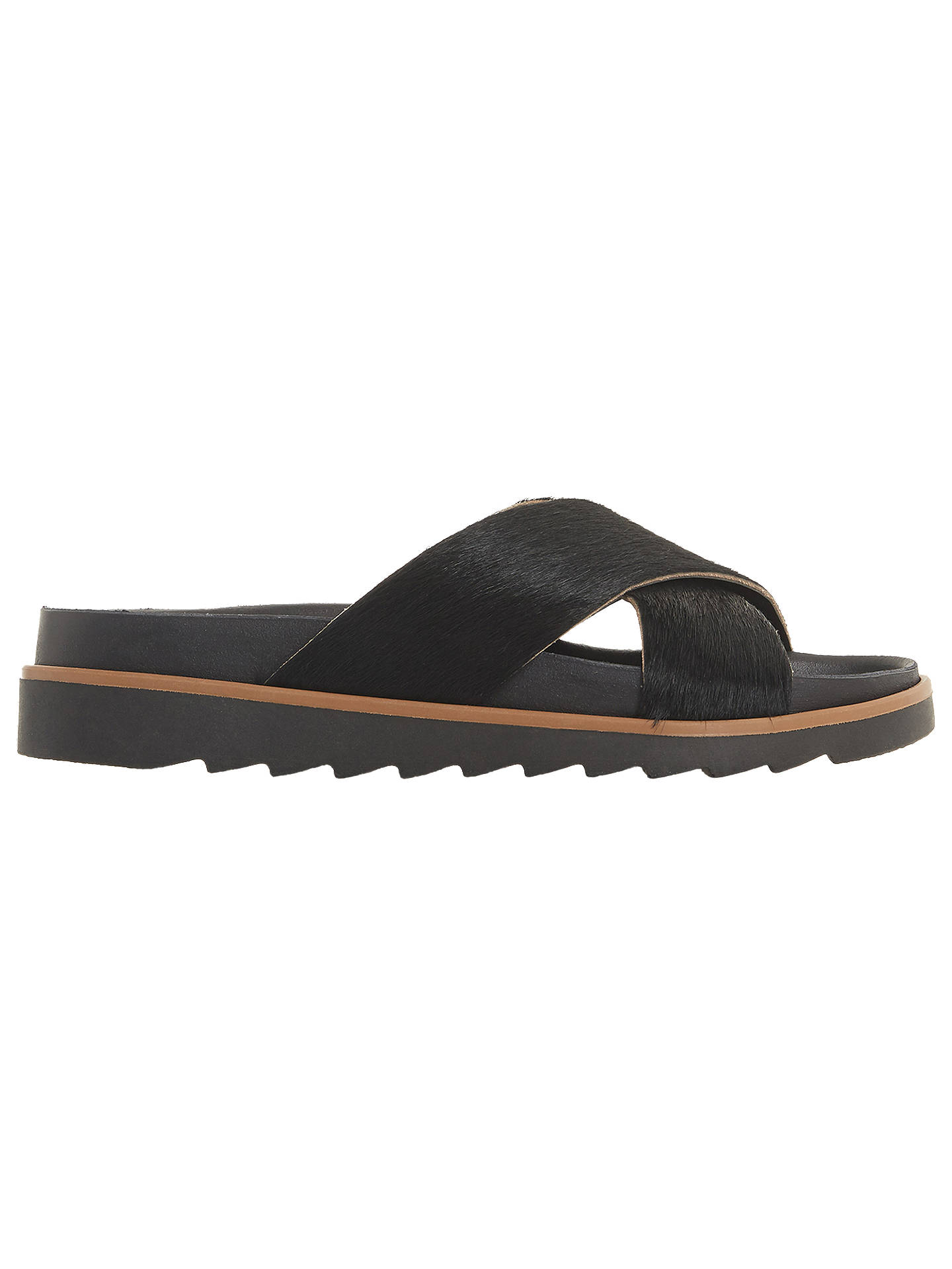 BuyBertie Lyberty Cross Strap Sandals, Black, 3 Online at johnlewis.com