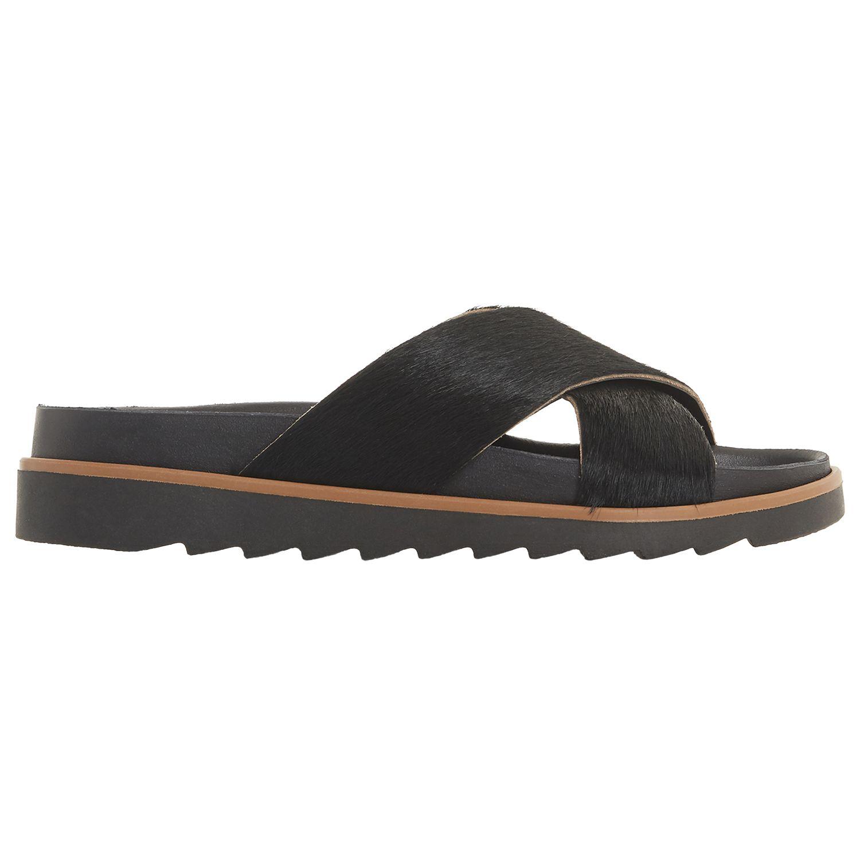 Bertie Bertie Lyberty Cross Strap Sandals, Black