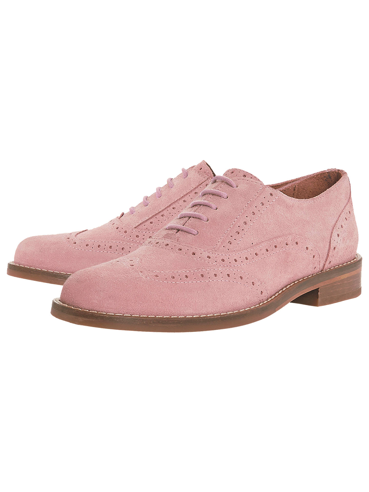 Buy Bertie Fae Lace Up Brogues, Blush, 3 Online at johnlewis.com