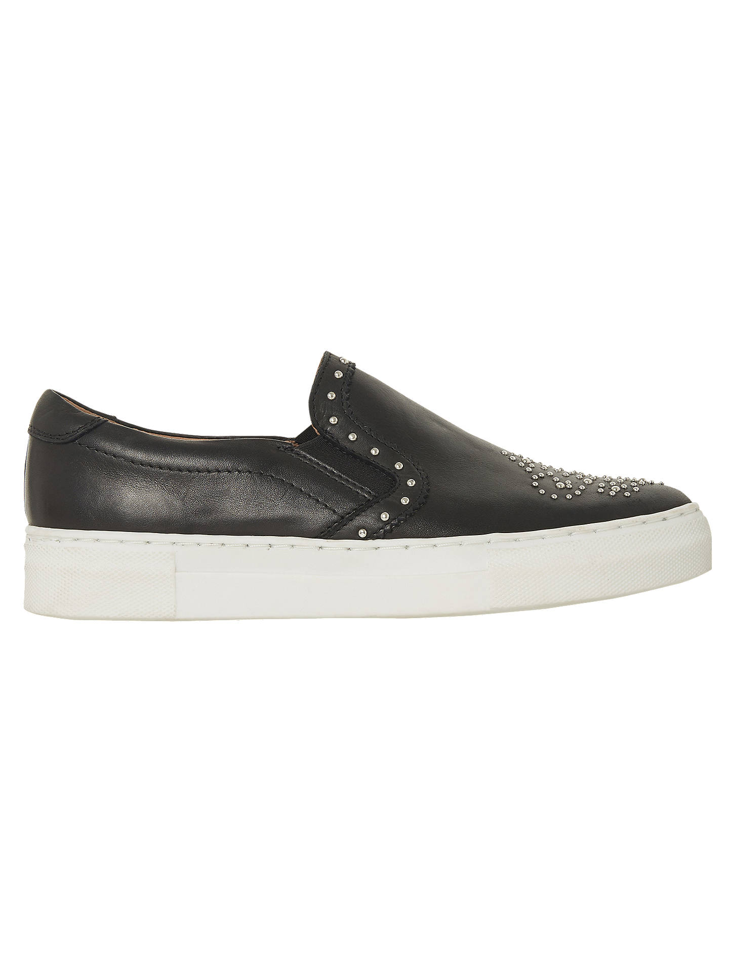 BuyBertie Edreen Slip On Stud Trainers, Black Leather, 3 Online at johnlewis.com