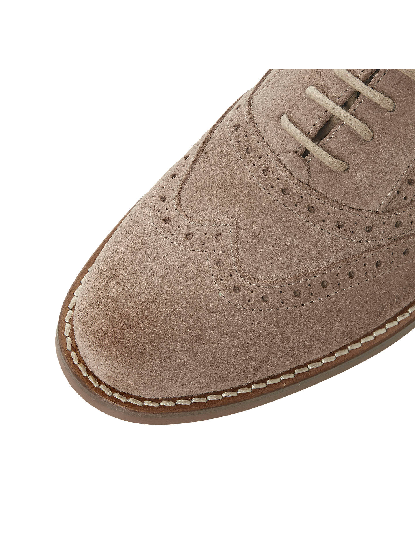 Buy Bertie Fae Lace Up Brogues, Stone, 3 Online at johnlewis.com