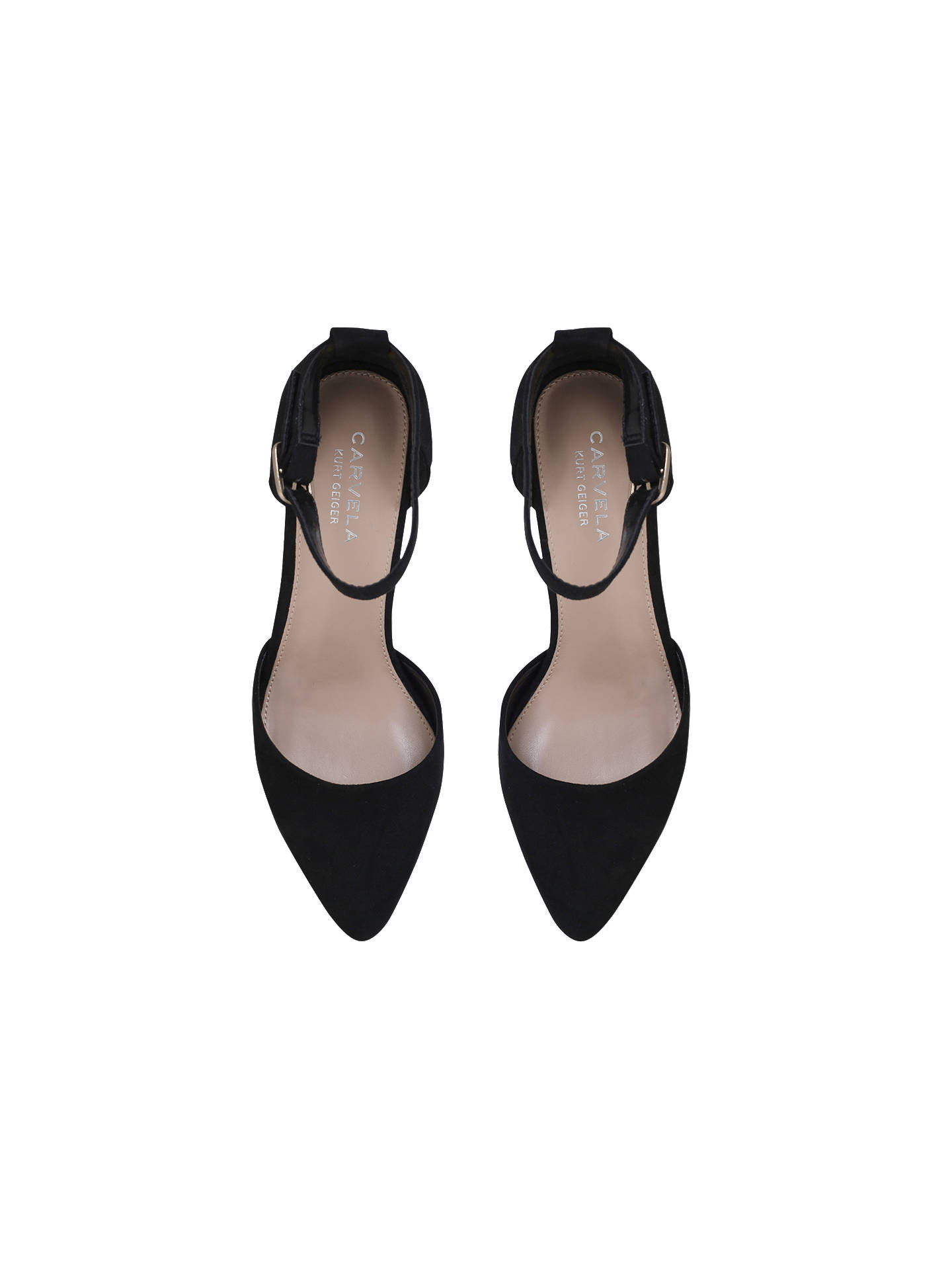 Buy Carvela Kixx Two Part Court Shoes, Black, 3 Online at johnlewis.com