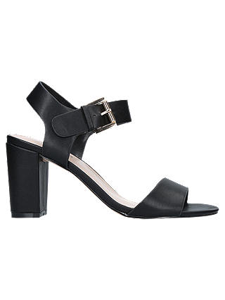 Buy Carvela Sadie Block Heel Sandals, Black, 3 Online at johnlewis.com