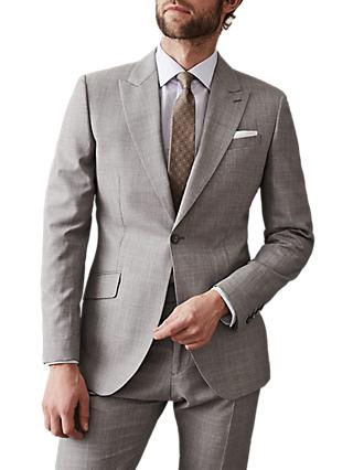 Reiss Serbelloni Wool Modern Fit Suit, Light Grey