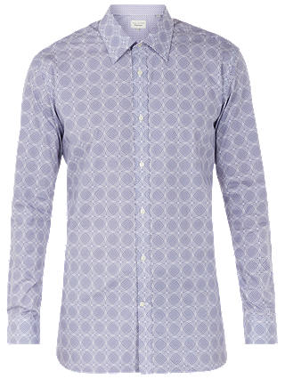 Buy Ted Baker Digess Circle Print Shirt, Purple, 15R Online at johnlewis.com