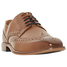 Buy Dune Benzema Leather Brogues, Tan Leather Online at johnlewis.com