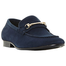 Buy Dune Pinocchio Snaffle Suede Loafers, Navy Online at johnlewis.com