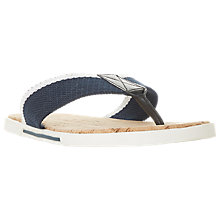 Buy Dune Iniesta Canvas Post Toe Sandals, Navy Online at johnlewis.com