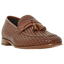 Buy Dune Paolo Apron Stitch Tassel Loafers, Tan Online at johnlewis.com