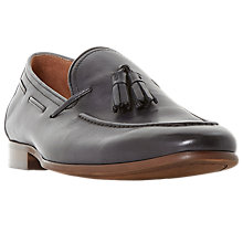 Buy Dune Pastore Leather Tassel Loafers. Grey Online at johnlewis.com