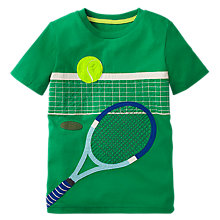 Buy Mini Boden Boys' Sports Applique T-Shirt, Green Online at johnlewis.com