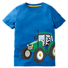 Buy Mini Boden Boys' Vehicle Applique T-Shirt, Blue Online at johnlewis.com