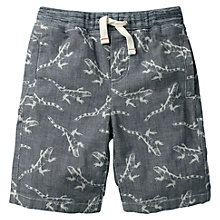 Buy Mini Boden Boys' Chambray Lizard Print Shorts, Blue Online at johnlewis.com