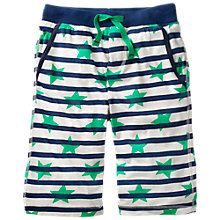 Buy Mini Boden Boys' Jersey Shorts, Green Online at johnlewis.com