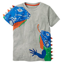 Buy Mini Boden Boys' 3D Animal T-Shirt, Grey Online at johnlewis.com
