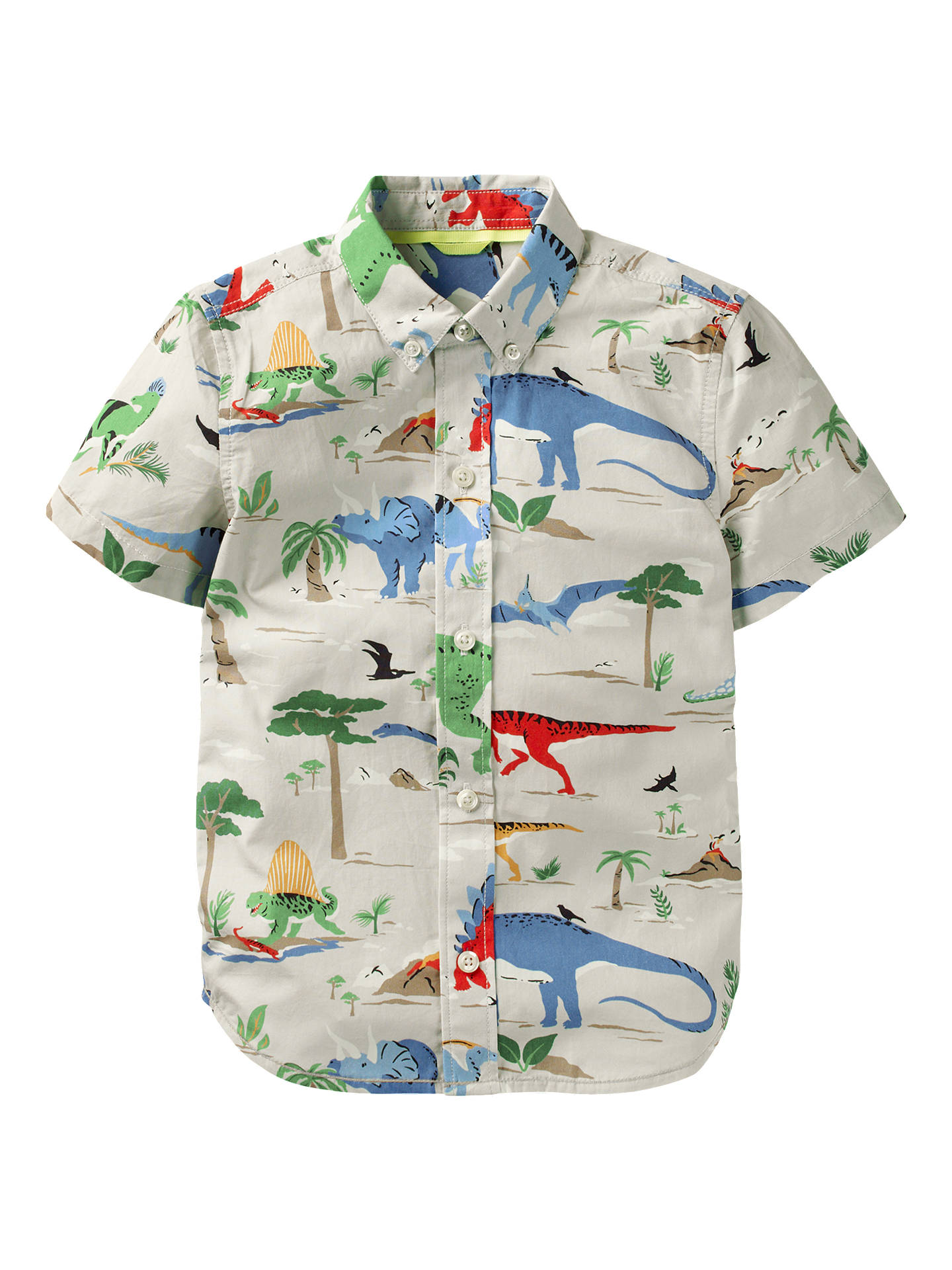 0beb177cf Mini Boden Boys  Fun Dinosaur Short Sleeve Shirt