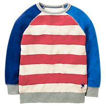 Buy Mini Boden Boys' Towelling Sweatshirt, Red Online at johnlewis.com