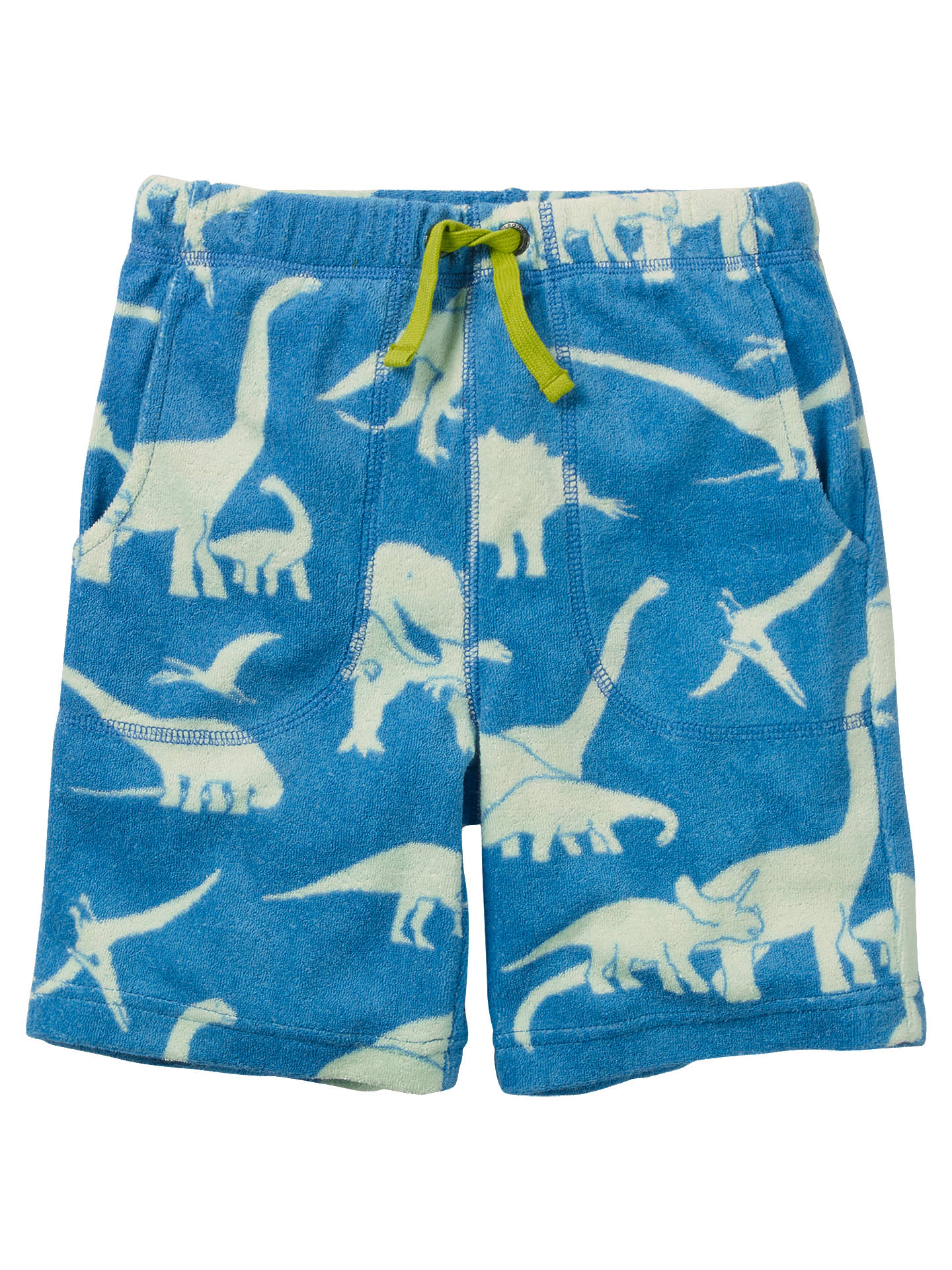 bfb1e8a99 Buy Mini Boden Boys' Dinosaur Towelling Shorts, Blue, 3 years Online at  johnlewis ...