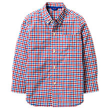 Buy Mini Boden Boys' Laundered Check Shirt, Red Online at johnlewis.com
