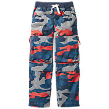 Buy Mini Boden Boys' Camouflage Trousers, Orange Online at johnlewis.com