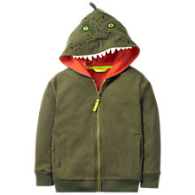 Buy Mini Boden Boys' Novelty Dinosaur Zip Through Hoodie, Green Online at johnlewis.com
