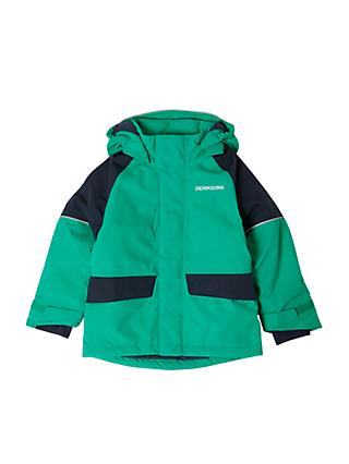 Didriksons Boys' Ese Hooded Waterproof Jacket, Green