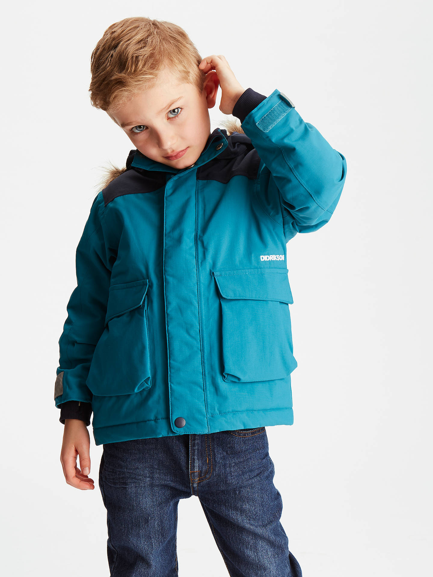 ddd16596fd Didriksons Boys  Kure Waterproof Parka Jacket at John Lewis   Partners