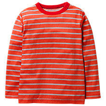 Buy Mini Boden Boys' Super Soft T-Shirt, Orange Online at johnlewis.com