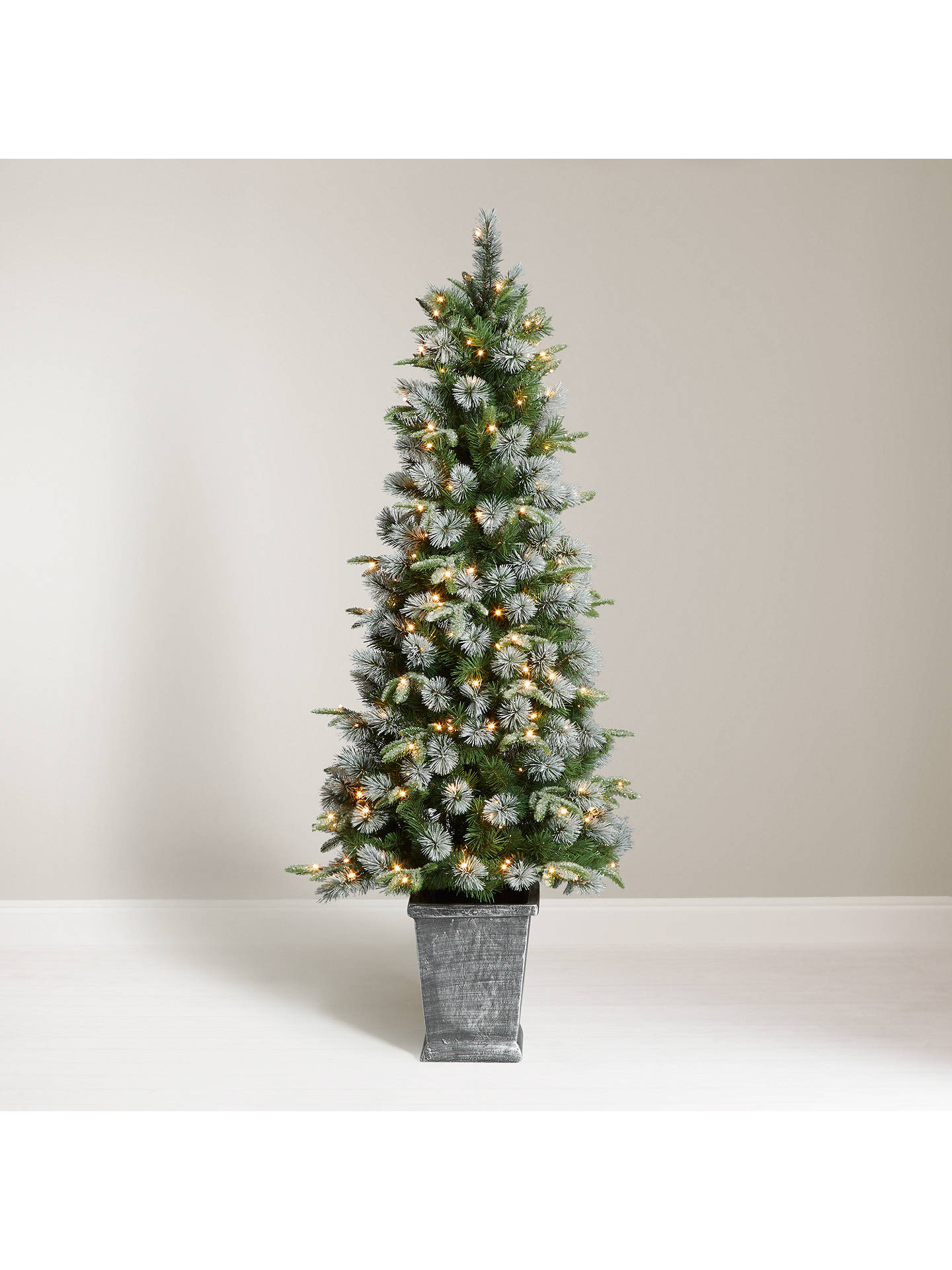 Buy John Lewis & Partners St. Anton Potted Pre-lit Christmas Tree, 6ft ...