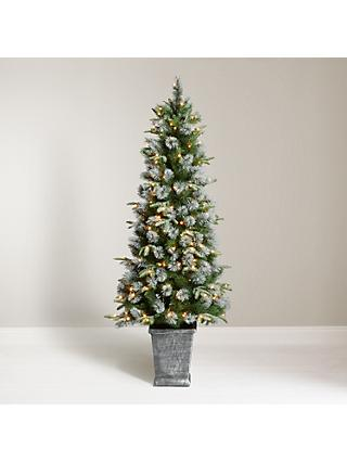john lewis partners st anton potted pre lit christmas tree 45ft