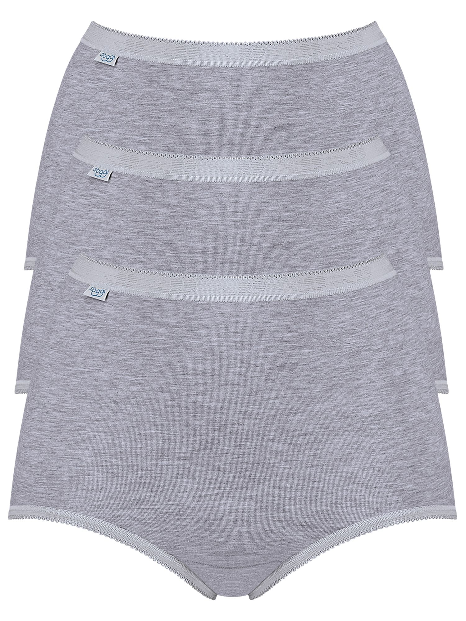 Sloggi sloggi 3 Pack Maxi Pants, Grey Melange