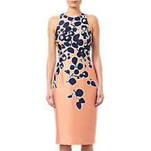 Buy Adrianna Papell Spotted Garden Printed Dress, Apricot/Navy Online at johnlewis.com