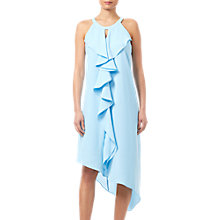 Buy Adrianna Papell Ruffle Crepe Dress, Azure Mist Online at johnlewis.com