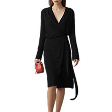 Buy Reiss Grace Wrap Dress, Black Online at johnlewis.com