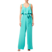 Buy Adrianna Papell Pop-Over Crepe Jumpsuit, Aqua Reef Online at johnlewis.com