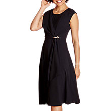 Buy Yumi Drape Dress, Black Online at johnlewis.com