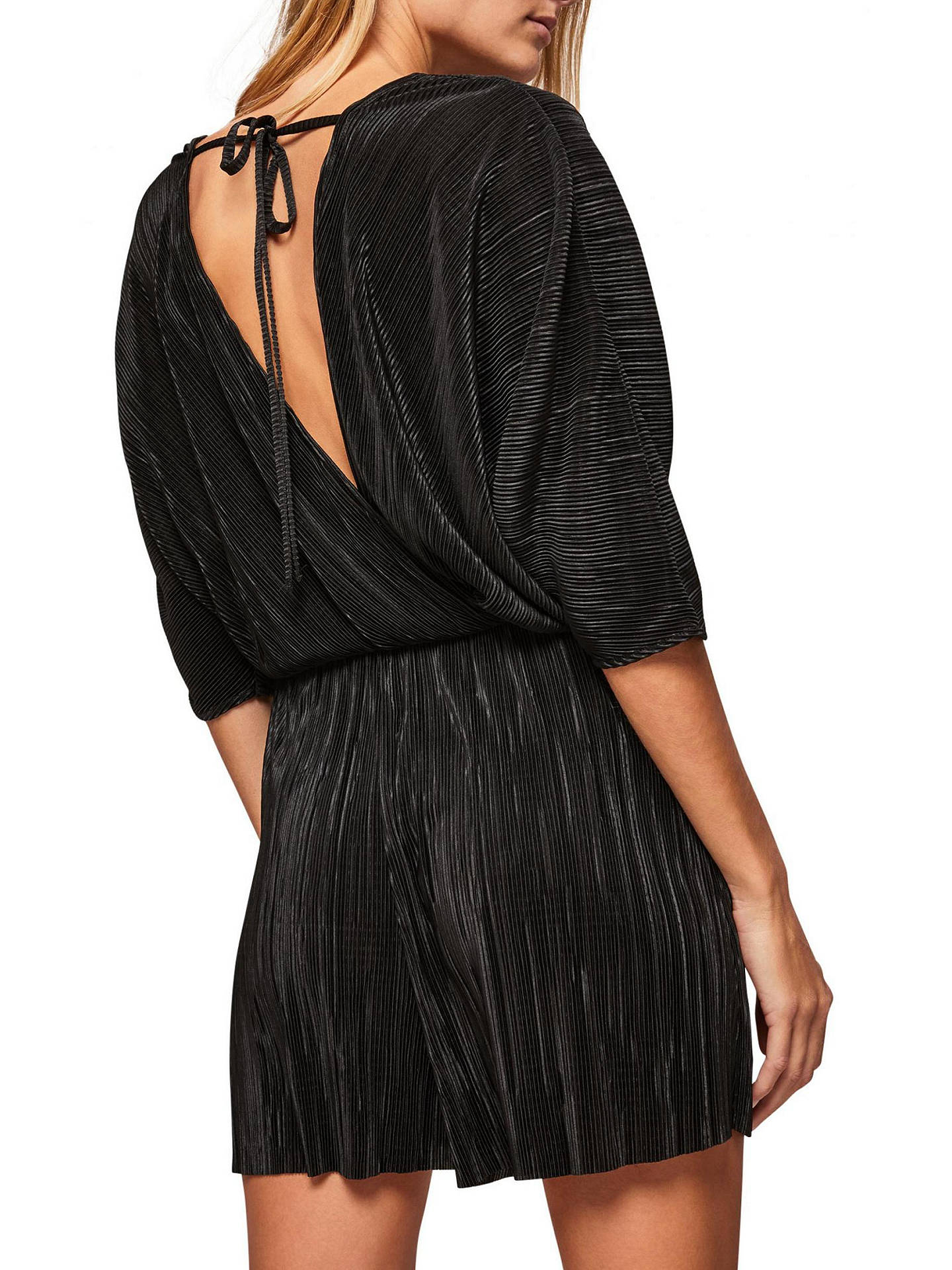 bright in luster great deals on fashion new arrivals Miss Selfridge Plisse Playsuit, Black at John Lewis & Partners