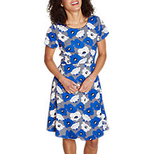 Buy Yumi Geo Floral Dress, Blue Online at johnlewis.com